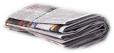 Picture of a folded  newspaper